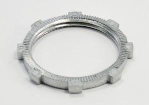 Locknut, Conduit, Zinc Die Cast, Fitting Locknut, Size 1 1/4 Inch-0