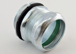 """Raintight Connector, Compression, Steel, Insulated Throat - 105°C, Size 1-1/2""""-0"""