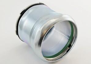 "Raintight Connector, Compression, Steel, Size 3-1/2""-0"