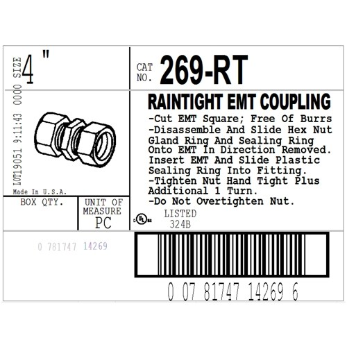 "4"" Raintight Coupling-3"