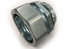 Connector, Liquid Tight, Straight, Malleable Iron, Size 3-1/2 Inch-0