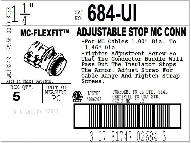 Connector, MC-FLEXFIT™, Adjustable Endstop, MC Feeder Cable, Two Screw-10