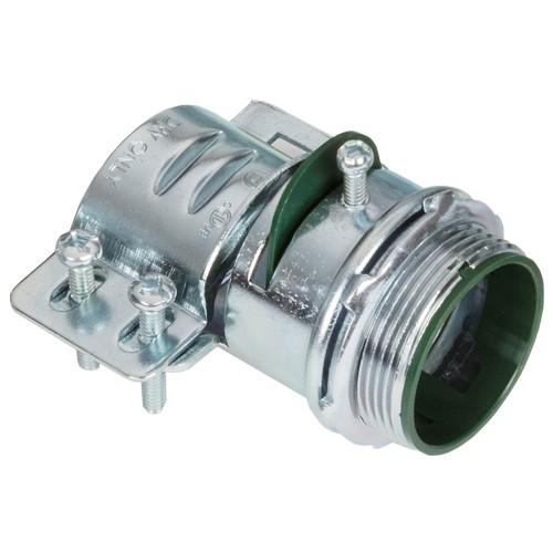 Connector, Adjustable Endstop, MC Feeder Cable, Two Screw, Steel, 1-1/2 Inch-0