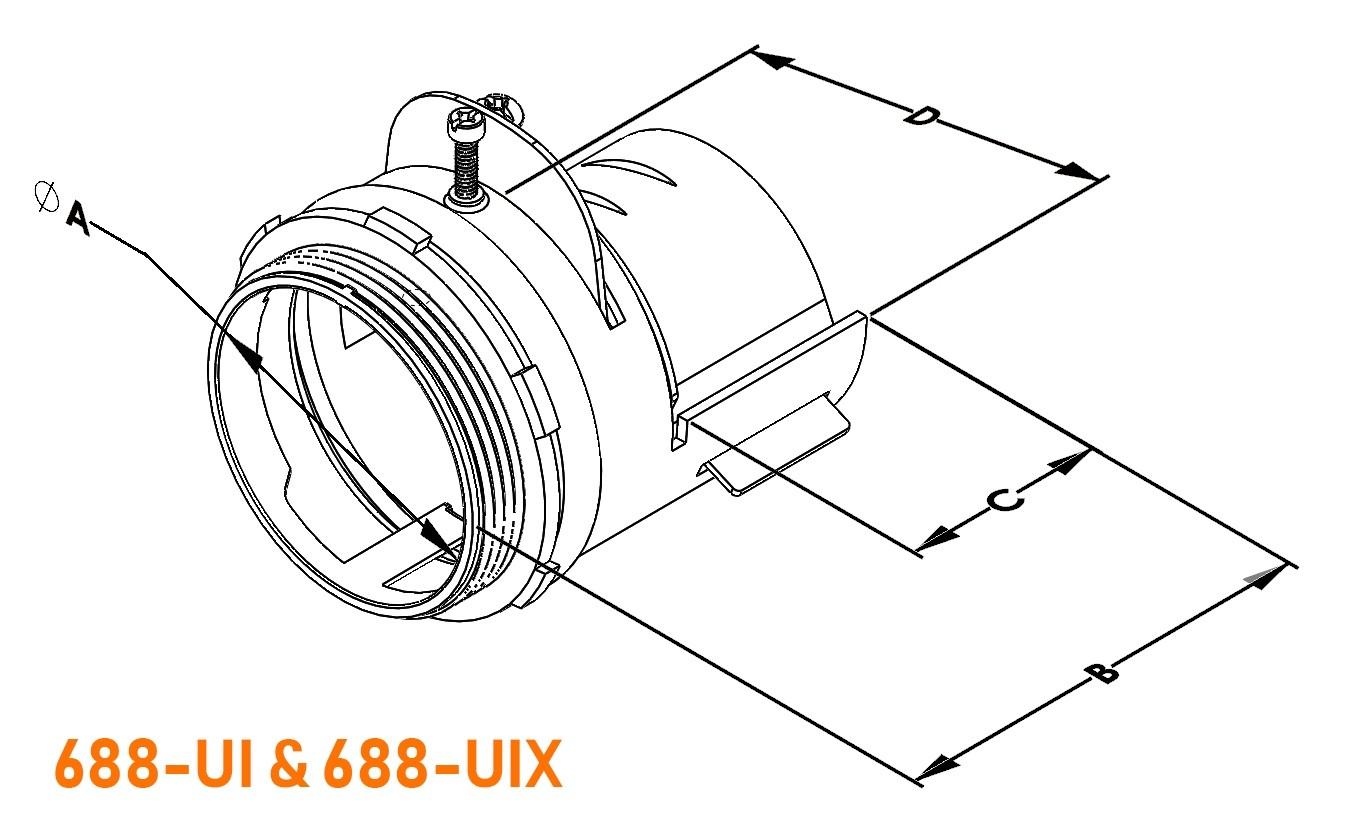 Connector, MC-FLEXFIT™, Adjustable Endstop, MC Feeder Cable, Two Screw-3