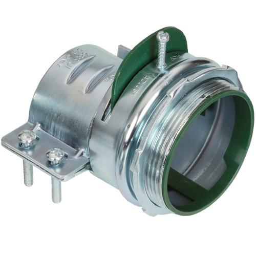 Connector, Adjustable Endstop, MC Feeder Cable, Two Screw, Steel, 3 Inch-0