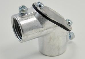 """Aluminum 1/2"""" Set Screw Coupling Pull Elbows-0"""