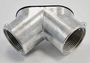 """Aluminum 1-1/4"""" Set Screw Coupling Pull Elbows-0"""