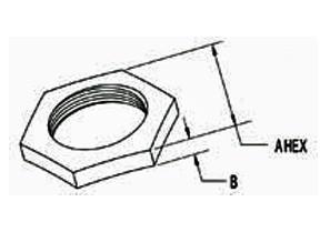 Locknut, Conduit, Steel, Size 3/8 Inch-1