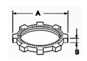 Locknut, Conduit, Zinc Die Cast, Fitting Locknut, Size 3/4 Inch-1