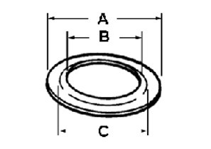 Washer, Reducing, Galvanized Steel, Size 2 Inch - 1/2 Inch-1