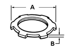 Locknut, UL Listed, Conduit, Steel 5 Inch-1