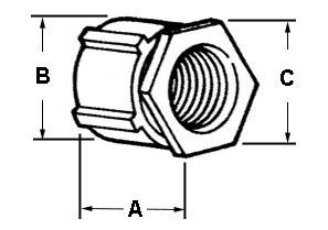 Coupling, Conduit, Three-Piece, Aluminum, Size 1/2 Inch-1