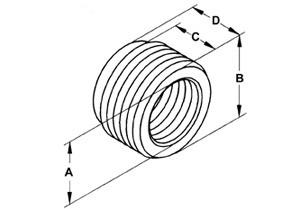 Bushing, Reducing, Steel, Size 1/2 - 3/8 Inch-1