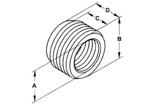 Bushing, Reducing, Steel, Size 1 1/2 - 3/4 Inch-1