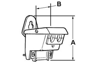 Entrance Cap, Oval Service, Entrance Cable, Aluminum, Cable Size 3-#3/0, #4/0-1