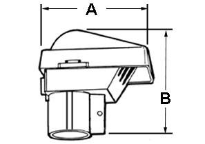 Entrance Head, PVC, Size 1/2 Inch-1