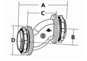 Mighty-Seal® Offset Nipple, Zinc Die Cast Raintight. Patented-1