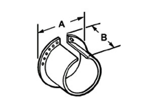 Liner, Lock - A, Polypropylene, Size 1/2 Inch-1
