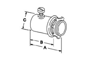 Connector, Set Screw, Steel, Size 3/4 Inch-1