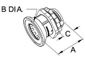 """Mighty-B® PUSH-EMT® Fittings - 1/2"""" Mighty-Bite® Connector.-1"""