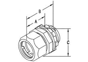 "1-1/2"" Raintight Compression Connector-1"