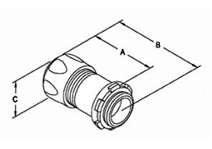 "Raintight Connector, Compression, Steel, Size 3-1/2""-1"