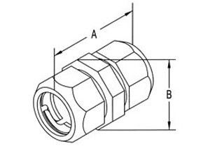 "1/2"" Raintight Compression Coupling - Made in the U.S.-1"