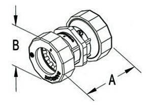 """Mighty-B® PUSH-EMT® Fittings - 3/4"""" Mighty-Bite™ Raintight Couplings.-1"""