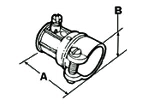 "3/4"" EMT to 1/2"" FMC Combination Coupling-1"