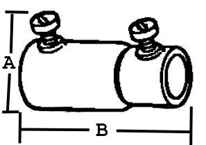 Set Screw Coupling, Combination, Steel, Size 3/4 Inch-1