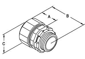 """1/2"""" Malleable Iron Rigid Compression Connectors-1"""
