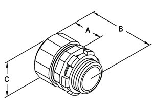 """3-1/2"""" Malleable Iron Rigid Compression Connectors-1"""