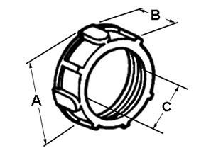 Bushing, Plastic - 105 Degrees C, Size 1 1/2 Inch-1
