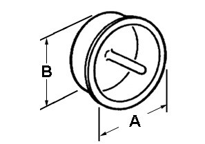 Pull Cap, Polyethylene, Size 1 1/2 Inch-1