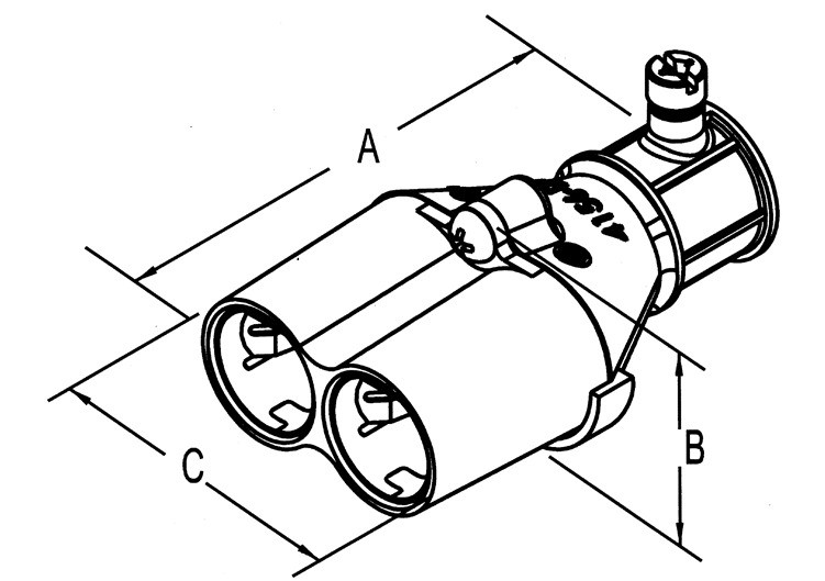 """Mighty-Merge® Transition Fittings. 1/2"""" EMT to Duplex AC/MC Coupling-1"""