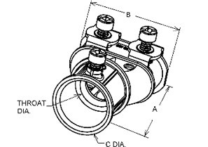 """Mighty-Merge® Transition Fittings. 3/4"""" EMT to Duplex AC/MC Coupling-1"""