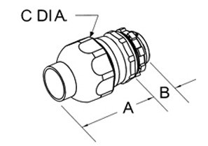 Connector, Liquid Tight, Direct Burial Rated, Zinc Die Cast, Polyolefin Coated, Size 3/4 Inch-1