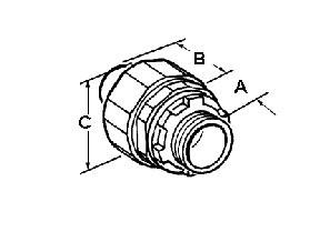 Connector, Liquid Tight, Straight Non-Metallic, Size 3/4 Inch-1