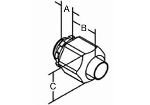 "3/4"" nonmetallic screw-on straight connector-1"