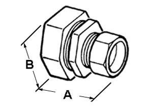 LTFMC Coupling, Combination, Zinc Die Cast, Size 1-1/4 Inch-1