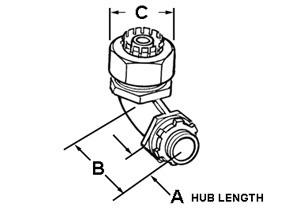 Connector, Liquid Tight, Cast Zinc, Size 2-1/2 Inch-1