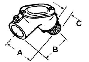 Set Screw Connector Pull Elbow, Zinc Die Cast, Size 3/4 Inch-1