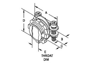 Connector, Strap, Two Screw, Zinc Die Cast, Size K.O. 1/2 Inch, Rectangular throat-1