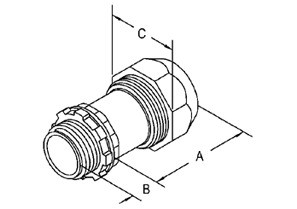 """Mighty-Seal® 1/2"""" PVC Jacketed MC/TECK Cable Connector-1"""