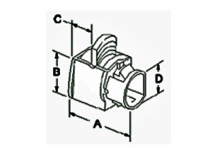 Connector, Snap-In, PVC, Nylon, Size K.O. 3/4 Inch.  8/3  -  6/3  or Two 12/3  -  8/3-1