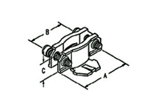 Connector, Clamp Type, Two-Piece, Steel, Size K.O. 1/2 Inch-1