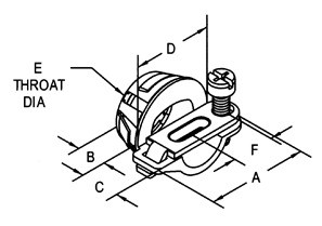 Snap-In NM connector, Strap, Single Screw, Zinc Die Cast, Oval Cable, Size K.O. 1/2 Inch.-1