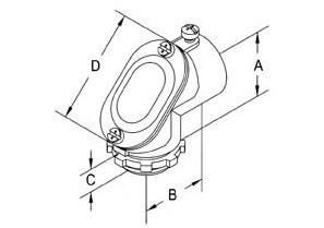 Aluminum Set Screw Connector Pull Elbows-1
