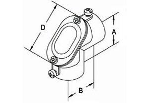"""Aluminum 3/4"""" Set Screw Coupling Pull Elbows-1"""