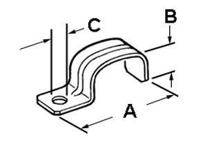 Strap, Service Entrance, One Hole, Steel, SE/SEU Cable Size #3,#3/0, #4/0-1